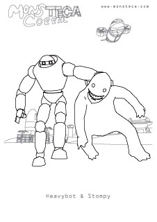 Heavybot and Stompy